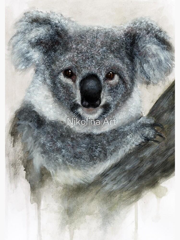 Arte De Acuarela De Koala de ArtbyNikolina