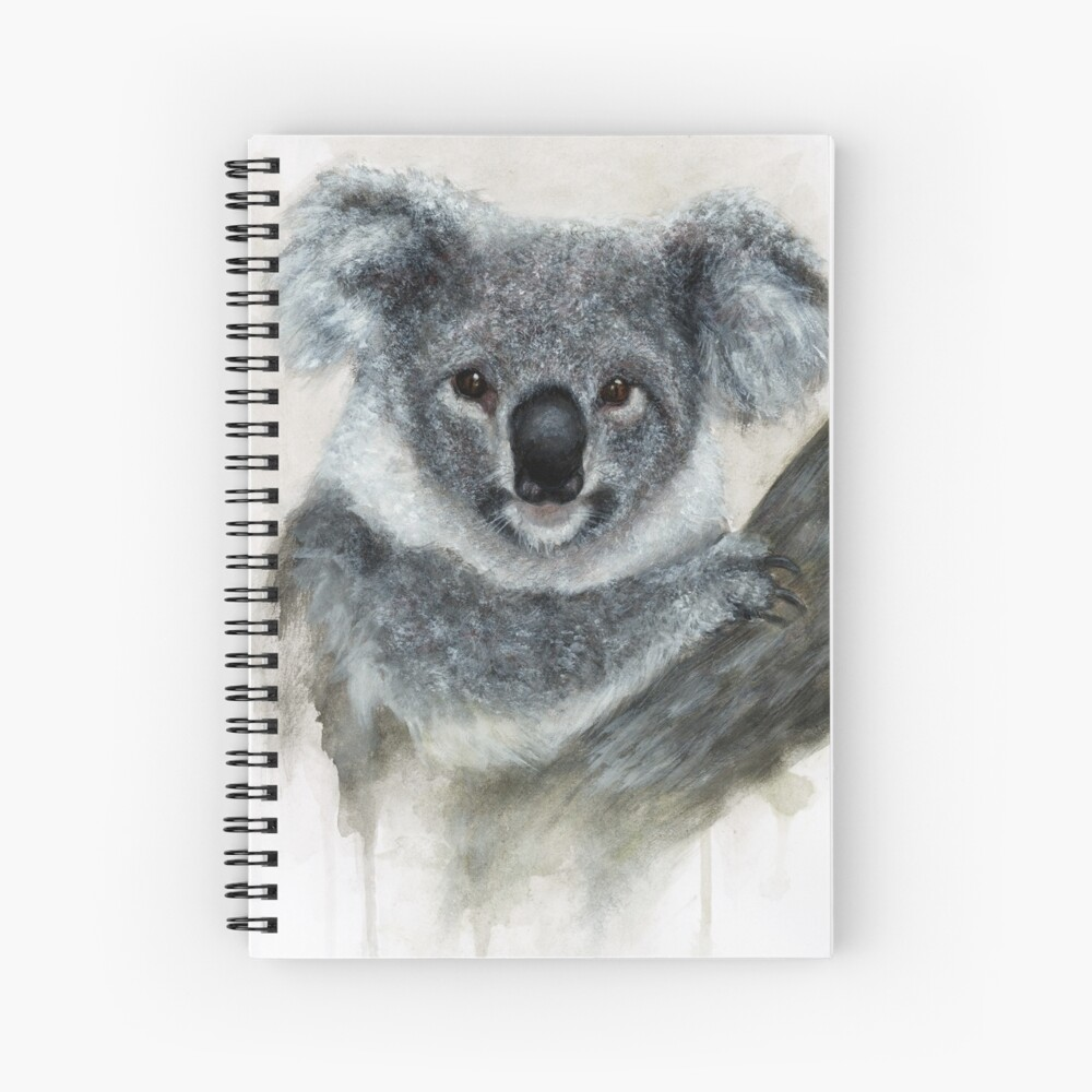 Arte De Acuarela De Koala Cuaderno de espiral