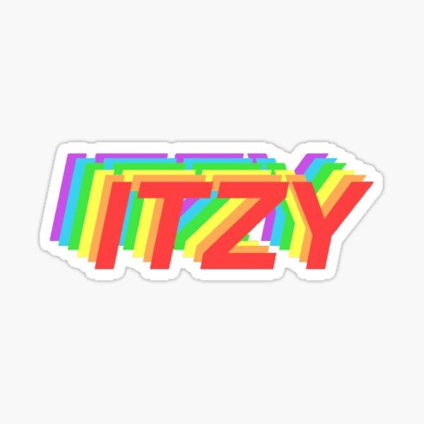 Logotipo del arco iris ITZY Pegatina