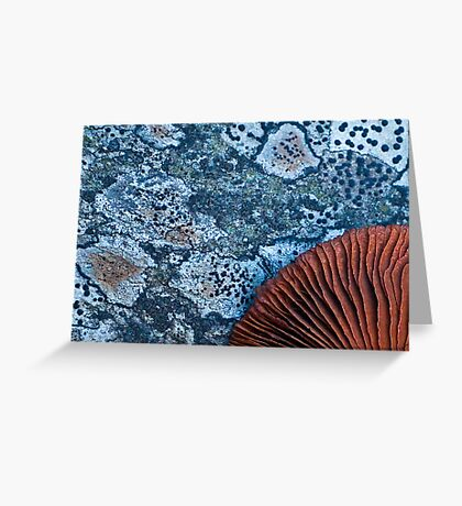 Red on blue Greeting Card