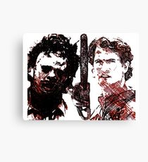 Good vs evil chainsaw Canvas Print