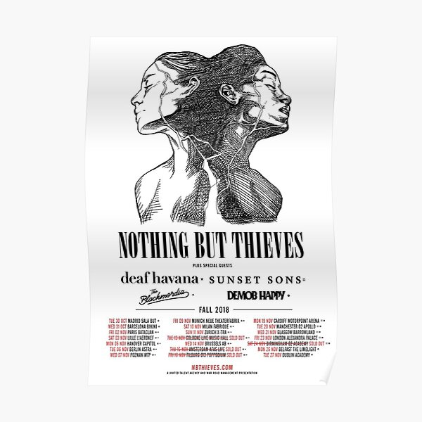 Nothing But Thieves Fall 2018 Tour Poster