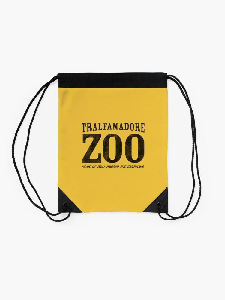 Alternate view of Tralfamadore Zoo Drawstring Bag
