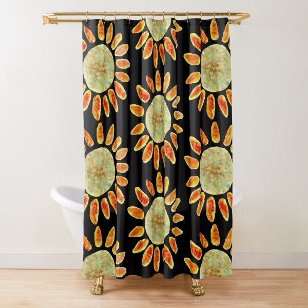 Painted Sun Shower Curtain