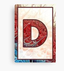 Fractal – Alphabet – D is for Digital Canvas Print