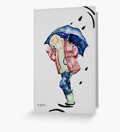 Me and my Umbrella ! Greeting Card