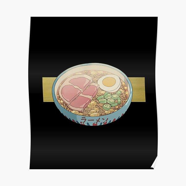Anime Ramen alimentaire esthétique jambon japonais instantané ramen t-shirt chemise à capuche autocollant merch Poster