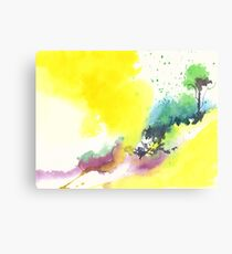 Yellow Sky 2 Canvas Print