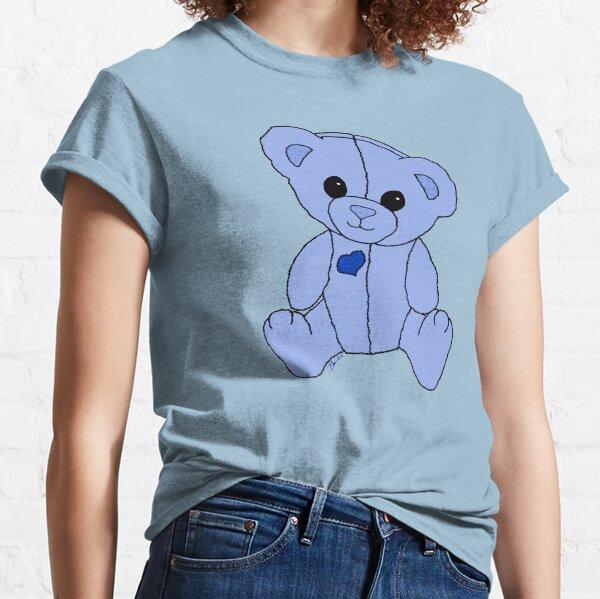 Cute Blue Valentine Heart Teddy Bear Baby Toy Classic T-Shirt