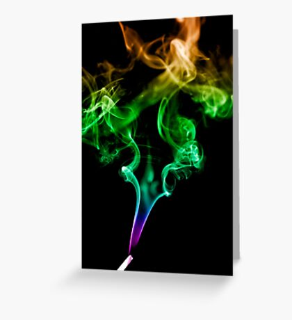 Colourful Smoke Trails Greeting Card