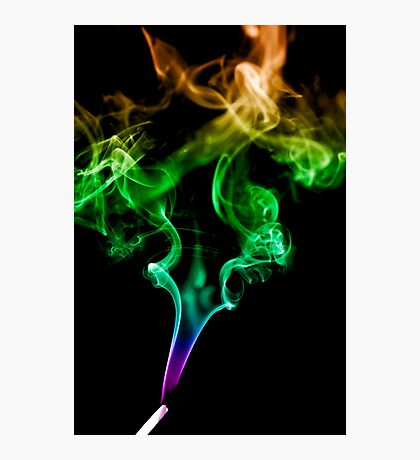 Colourful Smoke Trails Photographic Print
