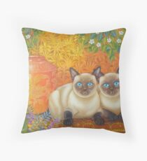 Moon Diamond Siamese Throw Pillow