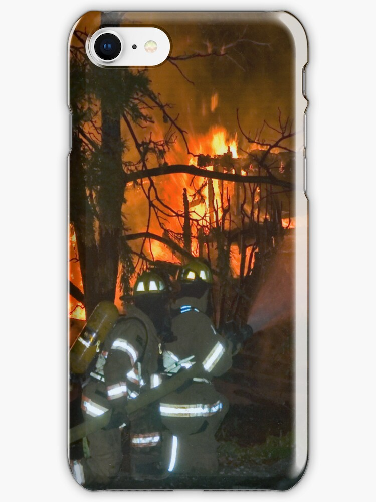 Firefighter iPhone case by Bryan Peterson