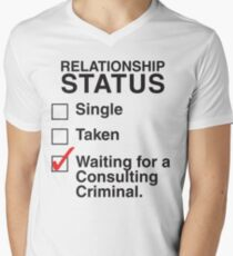 WAITING FOR A CONSULTING CRIMINAL Men's V-Neck T-Shirt