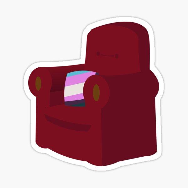 Happy Trans Armchair Sticker