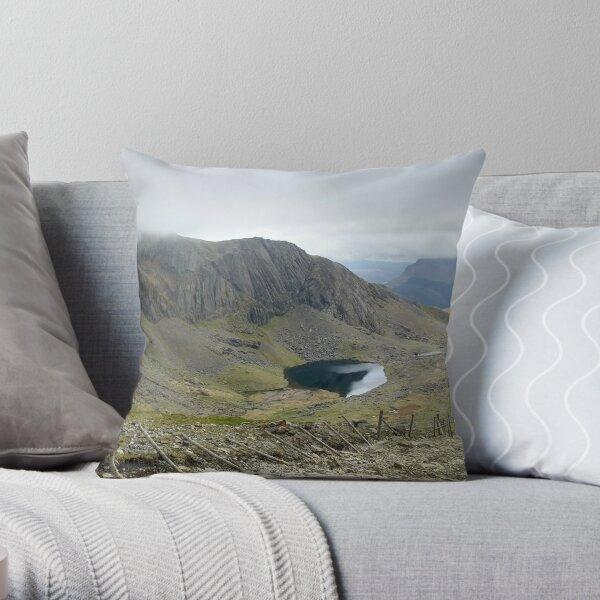 Climbing Snowdon Throw Pillow