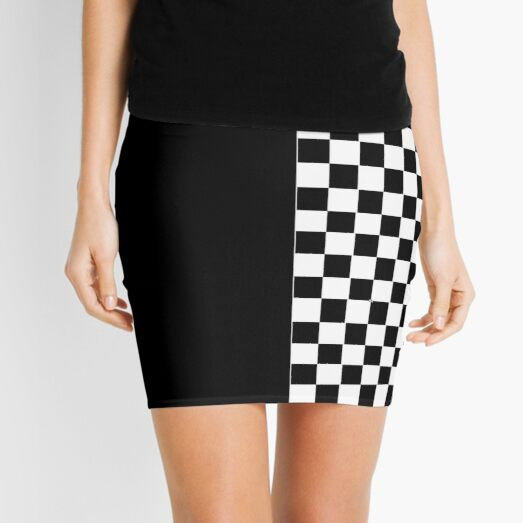 Black and white two tone Mini Skirt