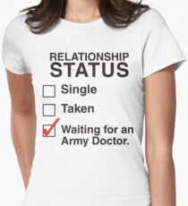 WAITING FOR AN ARMY DOCTOR Women's Fitted T-Shirt