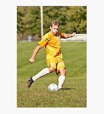 Player Kicks Photographic Print