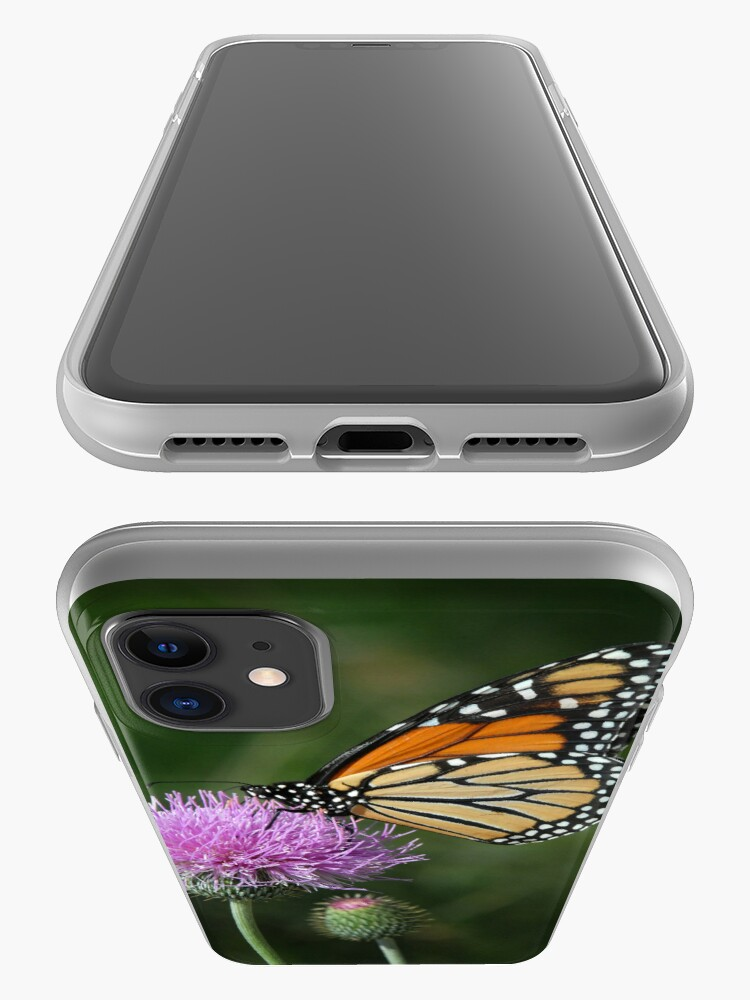 Alternate view of Monarch on Thistle - iPhone Case iPhone Case & Cover