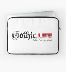 Gothic.Life Logo (White with tag) Laptop Sleeve