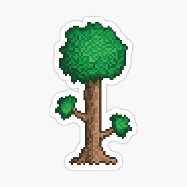 terraria tree Sticker