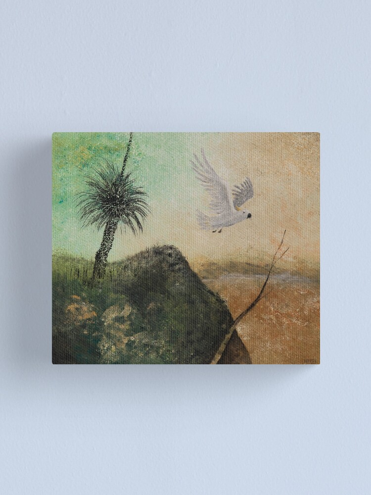 Alternate view of LANDSCAPE OF THE LOST COCKATOO Canvas Print