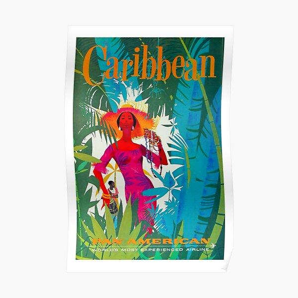 Vintage Carribean Poster