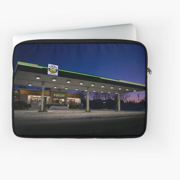 Gas Station in the Eve Laptop Sleeve