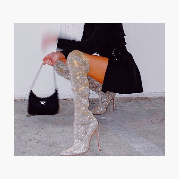 Fashion Bougie Boots Photographic Print