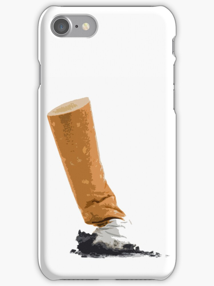 Cigarette Butt iPhone Case  by Hal Furness