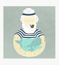 Let's Save The Seas Photographic Print