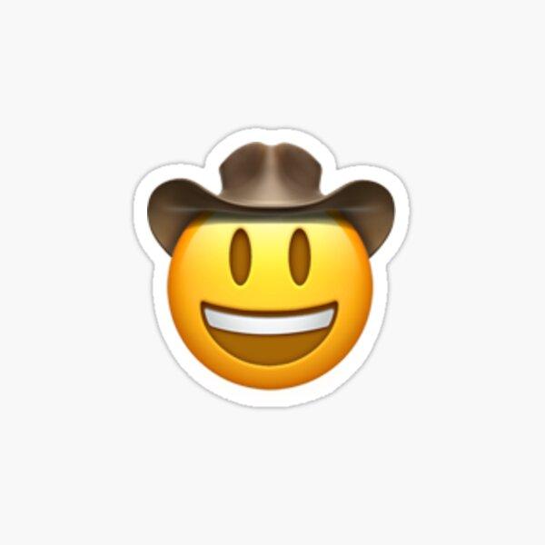 Cowboy Hat Face Emoji (Lil Nas X) Sticker