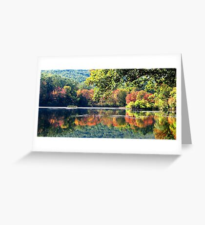 Laurel Lake in Autumn Greeting Card
