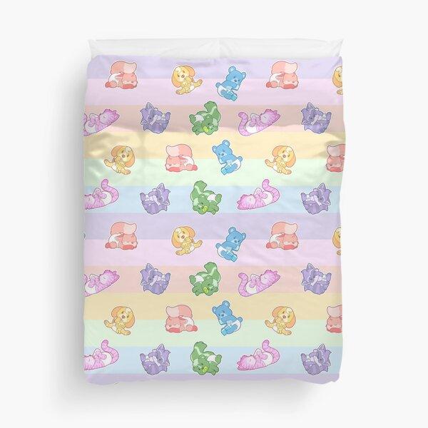 Lil Pastel Rainbow Babies Duvet Cover