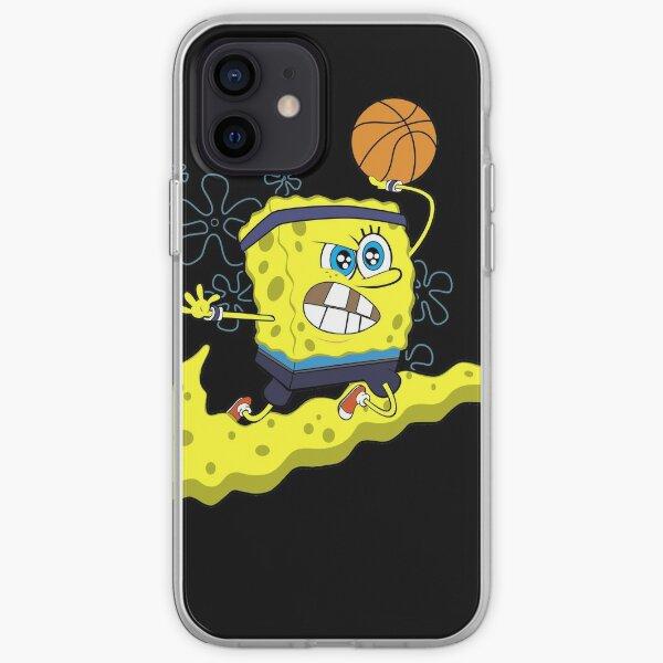 Camisetas de Bob Esponja de Baloncesto, Baskeball Fan Funda blanda para iPhone