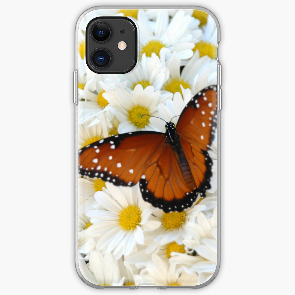 Butterfly on Daisies - iPhone Case iPhone Case & Cover