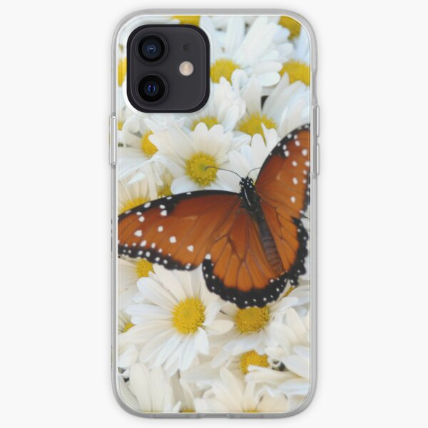 Butterfly on Daisies - iPhone Case iPhone Soft Case
