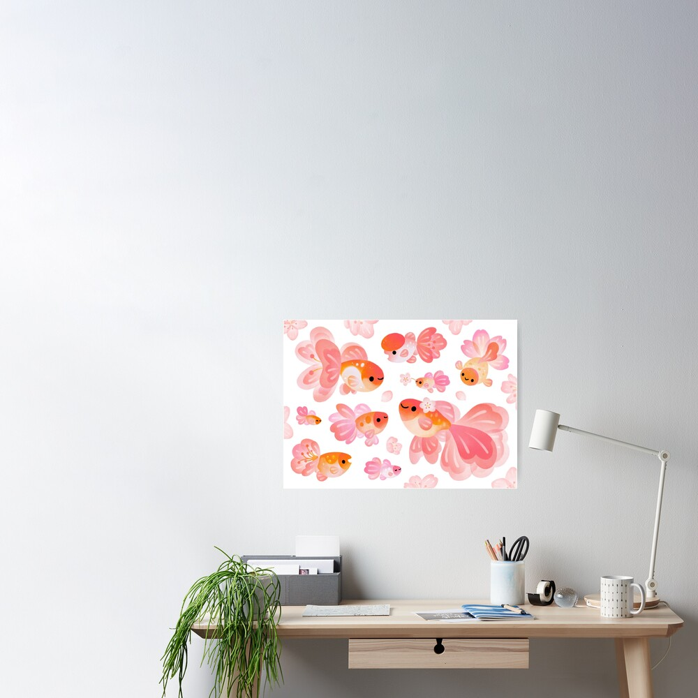 Cherry Blossom Goldfish 2 Poster