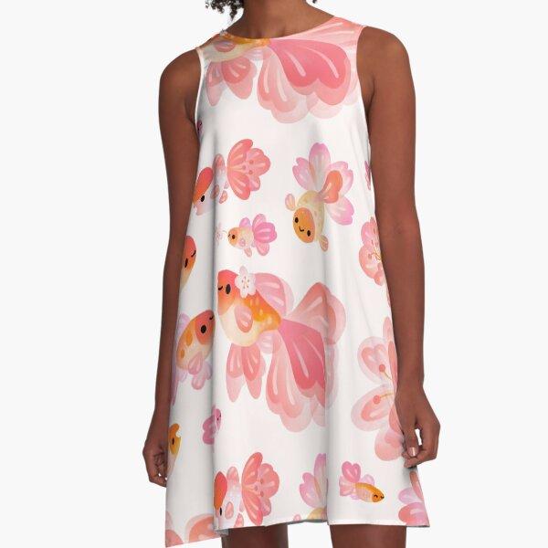 Cherry Blossom Goldfish 2 A-Line Dress
