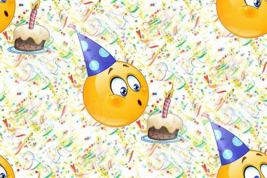 Happy Birthday Emoji Posters By Gossiprag