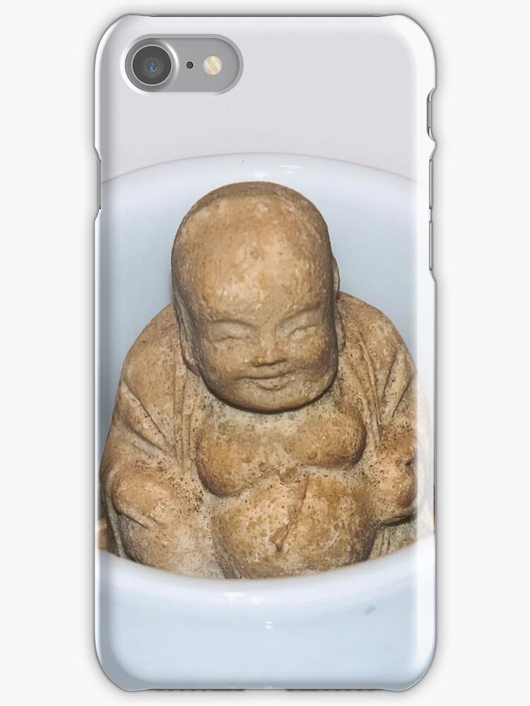 Happy Buddha iPhone Case by DeerPhotoArts