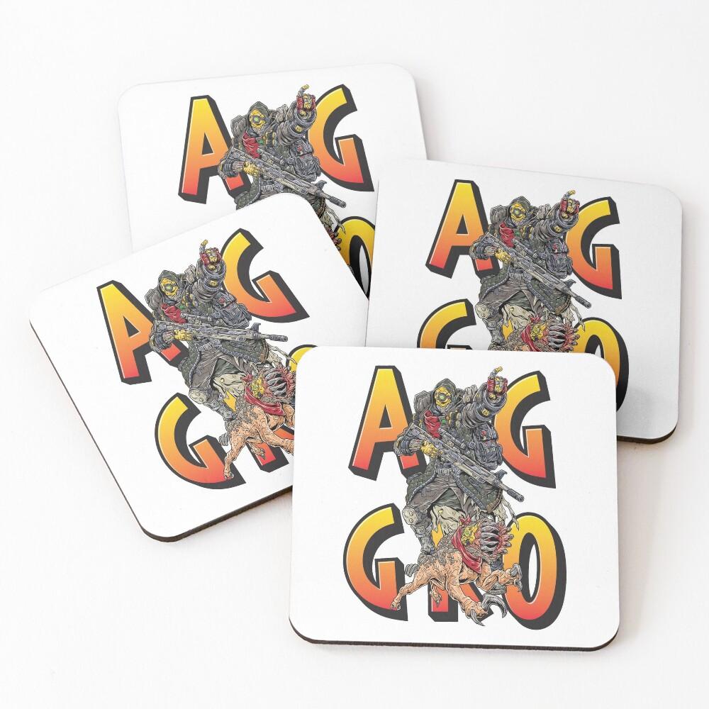 FL4K The Beastmaster Aggro Words Gamers Use Borderlands 3 Rakk Attack!Aggressive Provoking  Coasters (Set of 4)