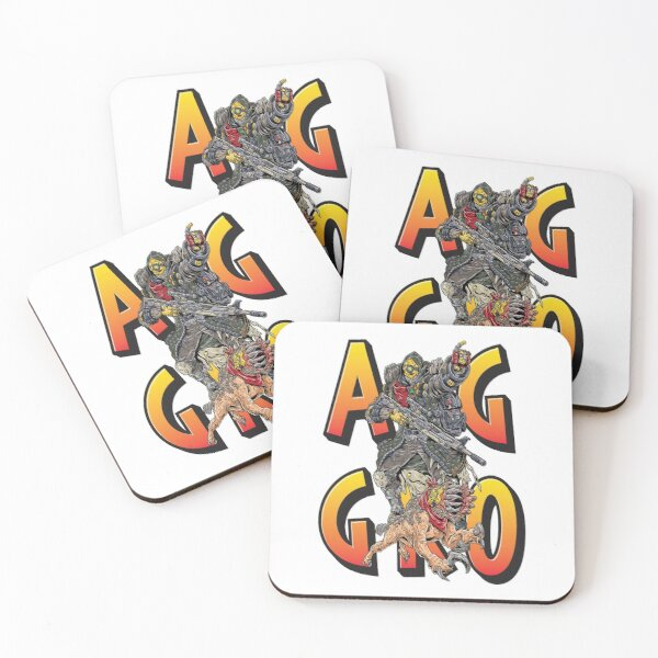 FL4K The Beastmaster Aggro Words Gamers Use Borderlands 3 Rakk Attack!Aggressive Provoking  Coasters (Set of 4)