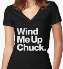 Chuck Brown DC Go-Go Wind Me Up Women's Fitted V-Neck T-Shirt