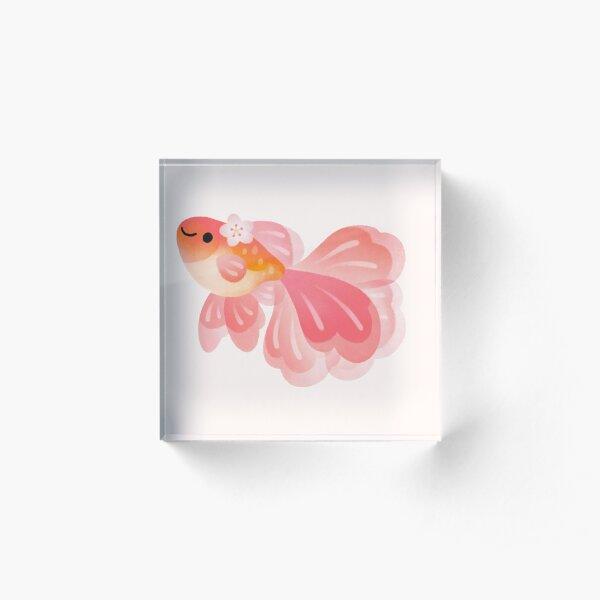 Cherry Blossom Goldfish 2 Bloque acrílico