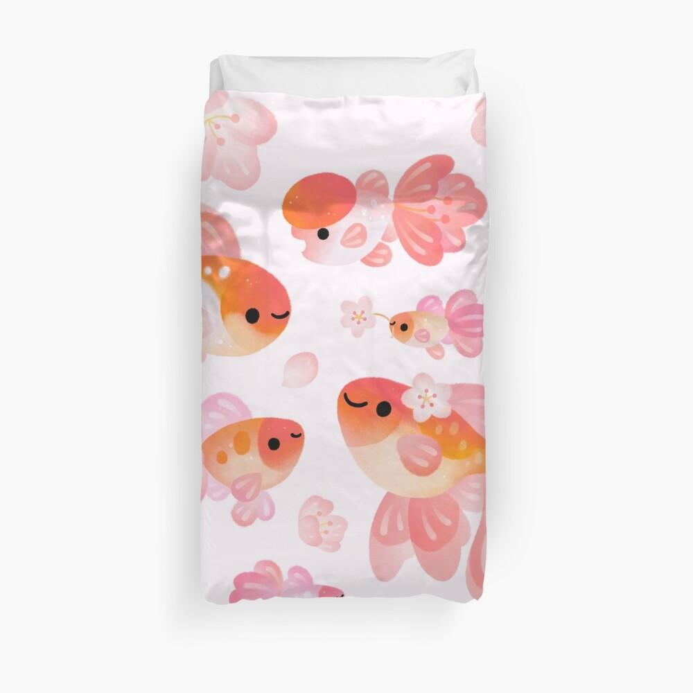 Cherry Blossom Goldfish 2 Duvet Cover