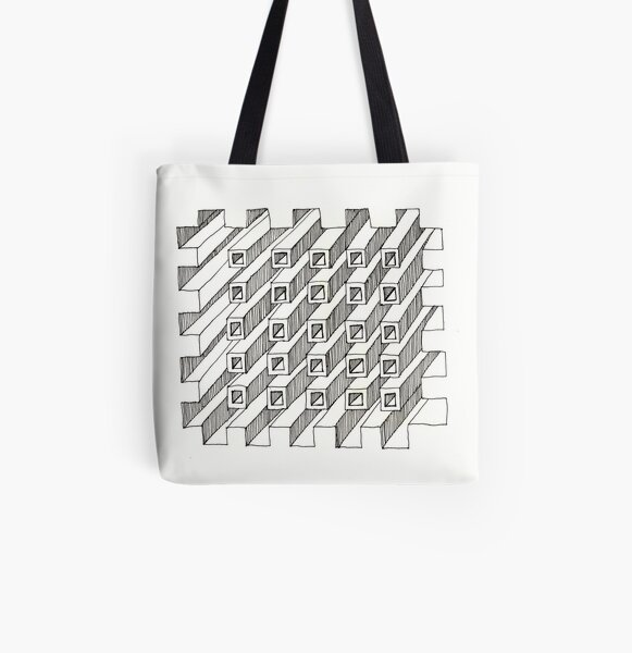 Construct Art Line Drawing 227 All Over Print Tote Bag