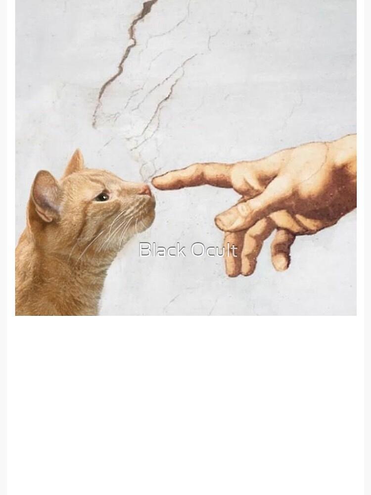 fine art block print 5 x 7\u201d cat edition the creation of adam