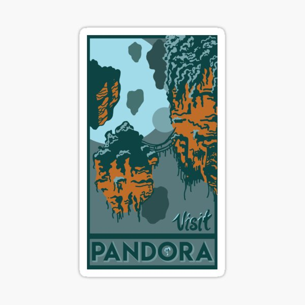 Visit Pandora: the World of Avatar Sticker